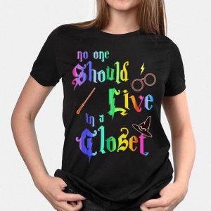 Harry Potter No one Should Live in a Closet LGBT Gay Pride shirt