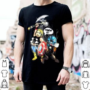 I Knew It Captain American Thor Marvel shirt