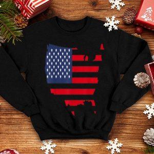 July 4th Patriotic American Flag USA Map shirt