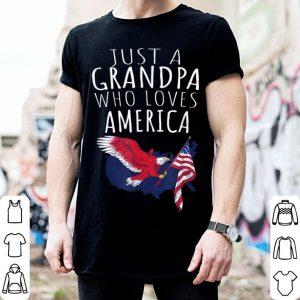Just A Grandpa Who Loves America shirt
