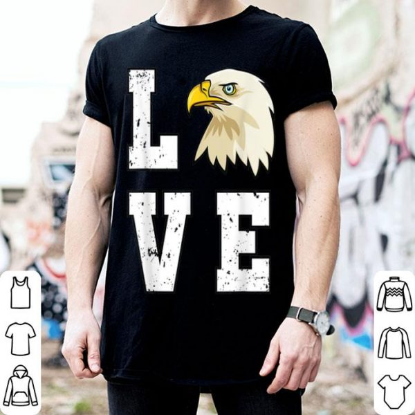 Love USA Mericaw Merica Bald Eagle 4th Of July American Flag shirt