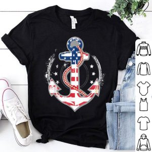 Memorial Day T Anchor With Usa Flag shirt