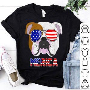 Merica English Bulldog 4th Of July Patriotic dog shirt