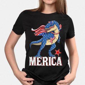 Merica T-Rex Dinosaur American 4th Of July shirt