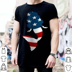 Mermaid American flag 4th Of July patriotic shirt