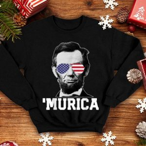 Murica 4th of July Abraham Lincoln USA shirt
