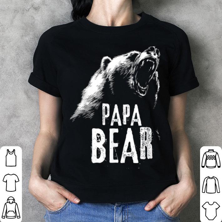 Papa Bear Fathers Day Shirt Hoodie Sweater Longsleeve T