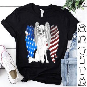 Papillon American flag Papillon dogs shirt