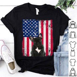 Patriotic American Usa Flag Fourth Of July French Bulldog shirt