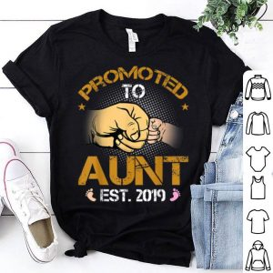 Promoted To Aunt Est 2019 New Dad Fathers Day shirt