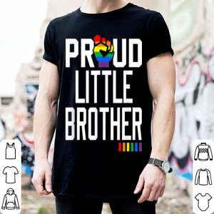 Proud Little Brother Gay Pride Month LGBTQ shirt
