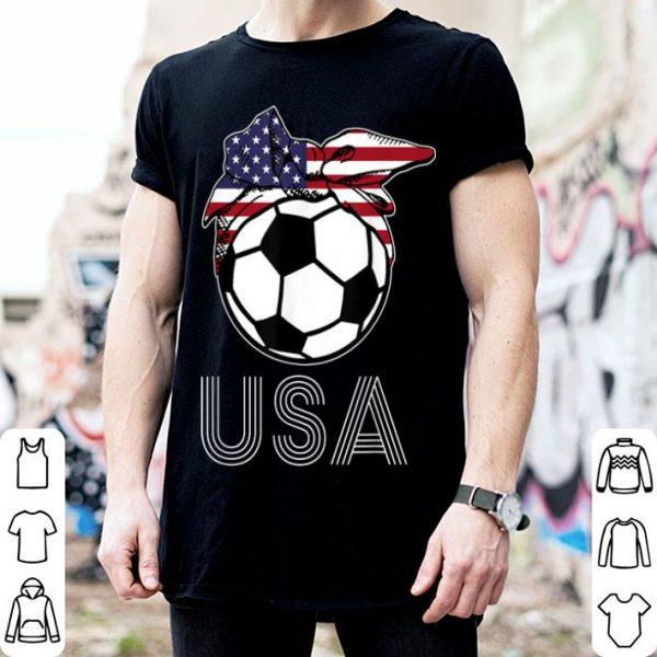 Soccer American Flag Headband Soccer Lover 4th Of July shirt