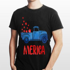 Truck American Flag Patriotic 4th Of July shirt