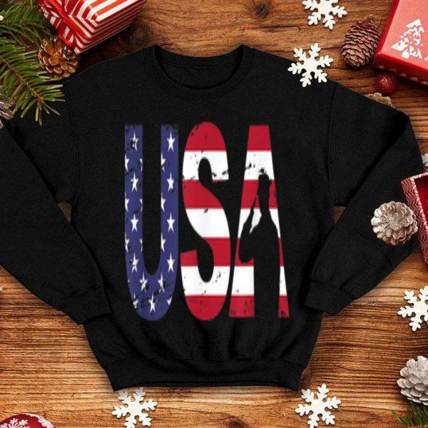 USA Military Salute US Flag July 4th Veterans Day shirt