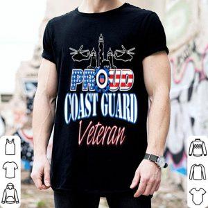 USA Proud Coast Guard Veteran USA Flag Military shirt