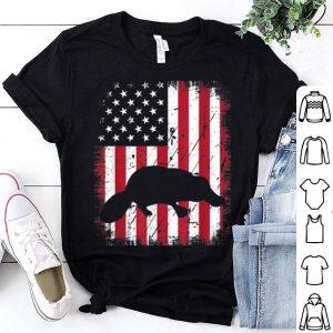 Vintage Platypus American Flag 4th July Patriotic shirt