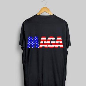 Maga Donald Trump 2020 American Flag 4th Of July shirt