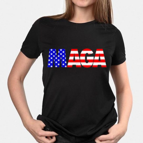 Maga Donald Trump 2020 American Flag 4th Of July shirt