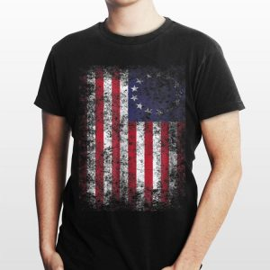 4th of July Patriotic Betsy Ross Flag 13 Colonies shirt
