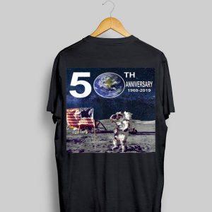 50th Anniversary Moon Landing Apollo 11 Astronaut American Flag shirt
