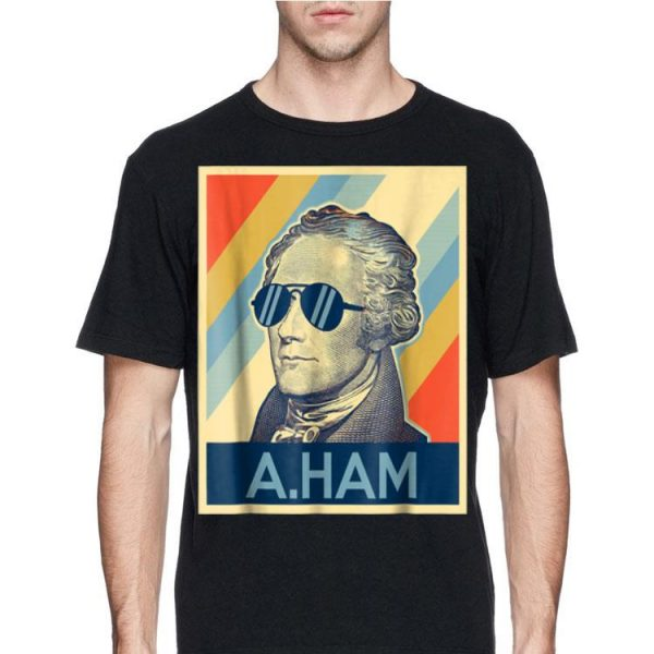 Alexander Hamilton Wearing Sunglass Retro shirt