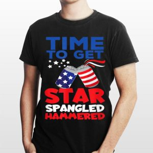 America Beer Cans Time To Get Star Spangled Hammered shirt