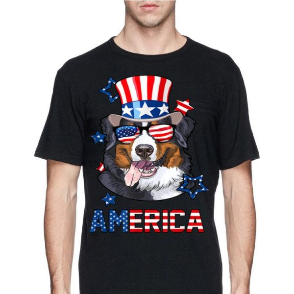 America Bernese Mountain Dog 4th of July shirt