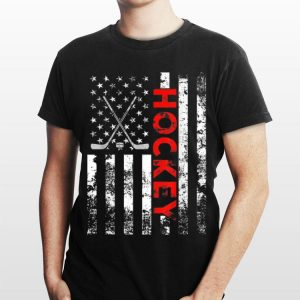 American Flag Hockey Bat USA Patriotic shirt