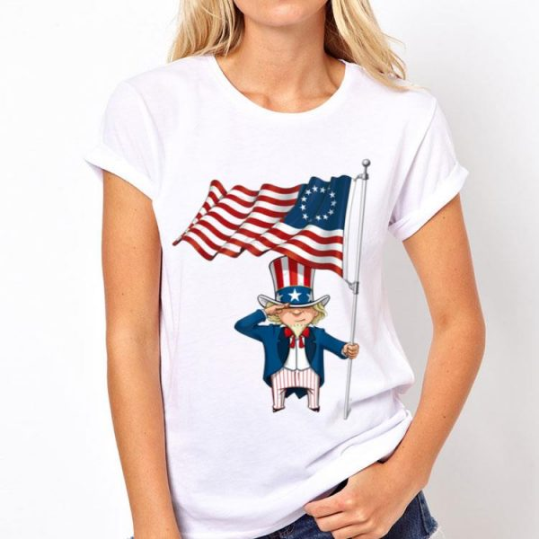 Betsy Ross Flag Uncle Sam To Salute The Flag shirt