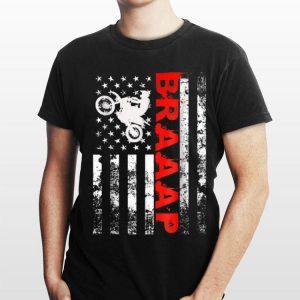 Biker Braaap American Flag shirt