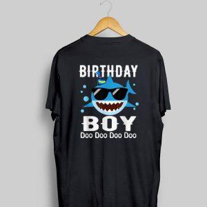 Birthday Boy Shark Doo Doo Doo With Sunglass shirt