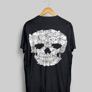 Cat Skull Skeleton Halloween Costume Idea shirt