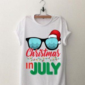 Christmas in July Santa Hat Sunglasses Summer shirt
