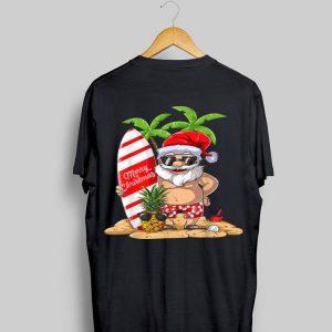 Christmas in July Santa Hawaiian Surfing Sunglass Pineapple shirt