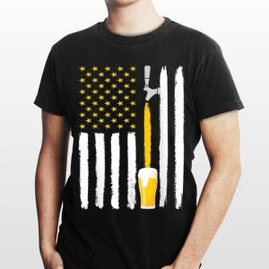 Craft Beer American Flag 4th July Brewery shirt