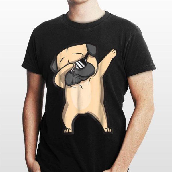 Dabbing Pug Dog Sunglass shirt
