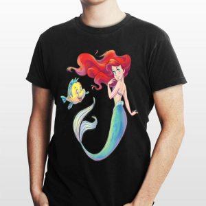 Disney The Little Mermaid Ariel and Flounder shirt