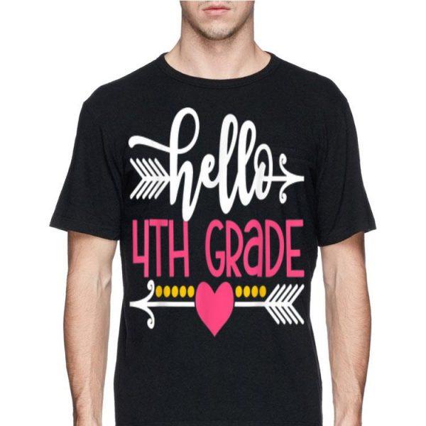 Hello 4th Grade Teacher Kids Back to School shirt