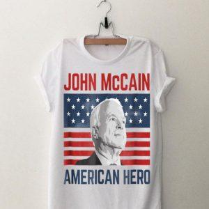 John McCain American Hero Usa Flag shirt