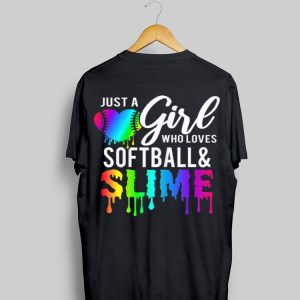 Just Girl Who Love Softball & Slime Rainbow shirt