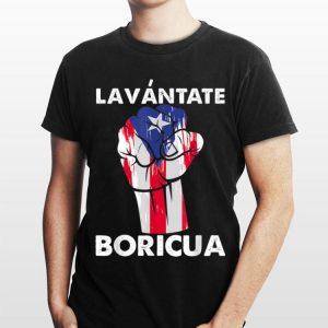 Lavantate Boricua Ricky Renuncia Puerto Rico Flag The Fist shirt