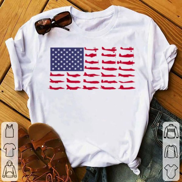 American Flag Aircraft 4th Of July independence Day shirt