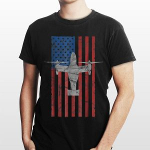 Mv 22 Osprey Aircraft American Flag For 4th Of July shirt
