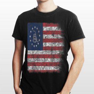 Patriotic Politically Incorrect Betsy Ross Flag 1776 Gadsden Snake shirt
