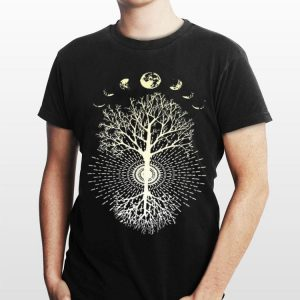 Phases of the Moon Tree shirt