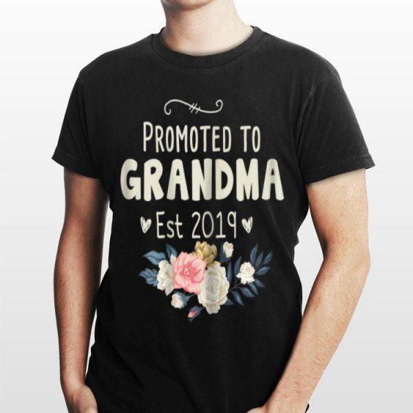 Promoted to Grandma Est 2019 Flower shirt