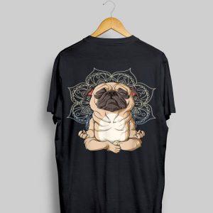 Pug Mops Dog Meditation Yoga Namaste Mandala shirt
