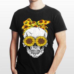 Skull Bandana Headband Sunflower Bow shirt