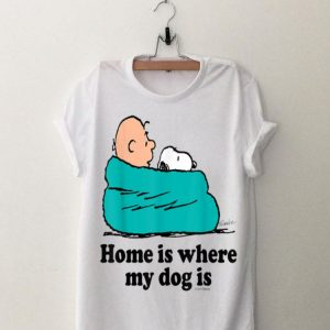 Snoopy And Peanut home Is Where My Dog Is shirt
