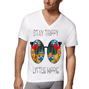 Stay Trippy Little Hippie Glasses Camping shirt